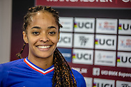 #971 (VALENTINO Manon) FRA wins Round 2 of the 2019 UCI BMX Supercross World Cup in Manchester, Great Britain