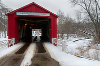 This covered bridge is located just outside of Princeton, Illinois. The bridge was built in 1863 and has a weight limit of 5 tons.<br />