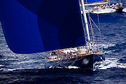 Rebecca sailing in the Butterfly Race at the Antigua Classic Yacht Regatta.