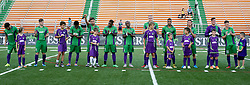 27 June 2015. New Orleans, Louisiana.<br /> National Premier Soccer League. NPSL. <br /> Jesters 1- Georgia Revolution 5.<br /> The New Orleans Jesters prepare to take on the Georgia Revolution at home in the Pan American Stadium. <br /> Photo©; Charlie Varley/varleypix.com