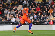 Daishawn Redan of Netherlands (9) celebrates after scoring during the UEFA European Under 17 Championship 2018 match between Netherlands and Spain at the Pirelli Stadium, Burton upon Trent, England on 8 May 2018. Picture by Mick Haynes.