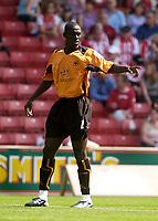 Photo. Glyn Thomas, Digitalsport<br /> Stoke City v Wolverhampton Wanderers. <br /> Coca Cola Championship. 08/08/2004.<br /> Wolves' Seyi Olofinjana.
