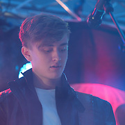 4 AM preforms at X-Factor's Sam Lavery to Switch on Christmas Lights at Stratford Centre inside Stratford Shopping Centre, 26th November 2016, London,UK. Photo by See Li