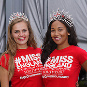 London, UK, 21th August 2016 : Miss England 2016 Elizabeth Grant  and  Miss Sussex Victoria Smart to gives a lucky draw hoilday to Mauritian for attendees at the Mauritian Open Air Festival 2016 at Gunnersbury Park in London,UK. © See Li/PictureCapital