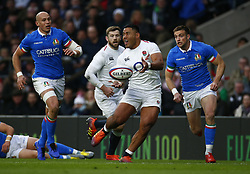 March 9, 2019 - London, England, United Kingdom - Manu Tuilagi of England .during the Guinness 6 Nations Rugby match between England and Italy at Twickenham  stadium in Twickenham  England on 9th March 2019. (Credit Image: © Action Foto Sport/NurPhoto via ZUMA Press)
