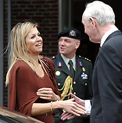 07-03-2012 Amsterdam Princess Maxima attended the national coachingday by Qredits in Amsterdam. <br /> Qredits promotes and supports entrepreneurship by microcredit, with a maximum of 50.000 euro, for starters and entrepreneurs who, despite a good business plan, cann't get a loan from a bank PHOTO HENDRIK JAN VAN BEEK