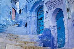 Blue staircase and walls, Chefchaouen, Morocco