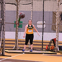 Jenelle Sunderland in action during the 2018 Canada West Track & Field Championship on February  24 at James Daly Fieldhouse. Credit: Arthur Ward/Arthur Images