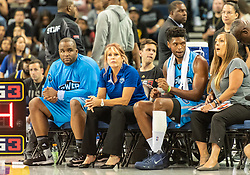 July 6, 2018 - Oakland, CA, U.S. - OAKLAND, CA - JULY 06: Power head coach Nancy Lieberman watches her team during game 3 in week three of the BIG3 3-on-3 basketball league on Friday, July 6, 2018 at the Oracle Arena in Oakland, CA (Photo by Douglas Stringer/Icon Sportswire) (Credit Image: © Douglas Stringer/Icon SMI via ZUMA Press)