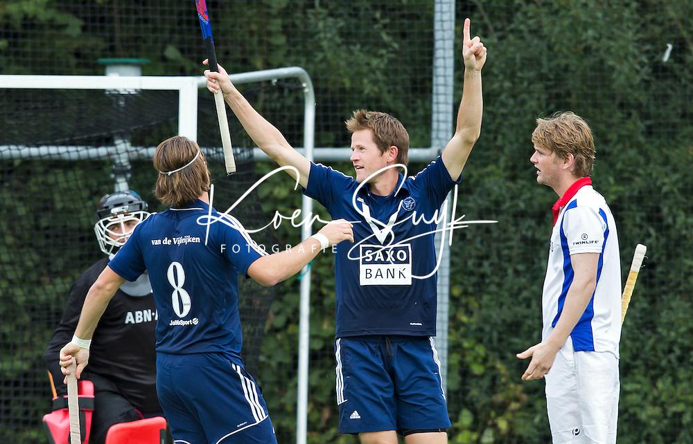 AMSTELVEEN - Lucas Judge  van Pinoke tijdens de hoofdklasse competitiewedstrijd tussen de mannen van  Pinoke en SCHC (6-1). FOTO KNHB/KOEN SUYK