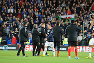 Wayne Rooney of Manchester United walks off the pitch at full time.<br /> Barclays Premier League match, Cardiff city v Manchester Utd at the Cardiff city stadium in Cardiff, South Wales on Sunday 24th Nov 2013. pic by Phil Rees, Andrew Orchard sports photography,