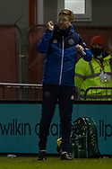 Shrewsbury Town Manager Steve Cotterill during the EFL Sky Bet League 1 match between Lincoln City and Shrewsbury Town at Sincil Bank, Lincoln, United Kingdom on 15 December 2020.