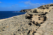 Interesting geological rock formations at Ajuy, Fuerteventura, Canary Islands, Spain