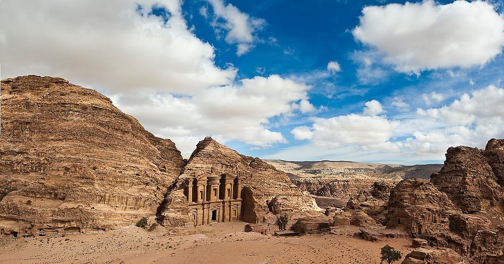The Monastery (Al Deir) in Petra, Jordan.
