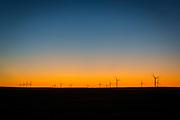 A wind turbine field. (Photo © Andy Manis)