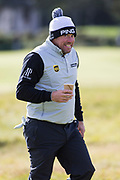 5th October 2017, The Old Course, St Andrews, Scotland; Alfred Dunhill Links Championship, first round; Lee Westwood smiles on the fairway of the fifth