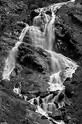 Val Sesia, Acqua Bianca, Piedmont, Italy. June 2015<br /> The Acqua Bianca Waterfall at the head of the Val Sesia. The walk to Passo de Turio starts from the waterfall.