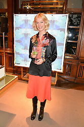 VICTORIA MORTON at the opening of the exhibition 'My Mother Was A Reeler' at Etro, 43 Old Bond Street, London on 5th October 2016.