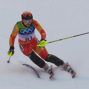 Winter Olympics, Vancouver, 2010. Lina Xia, China, in action in the Alpine Skiing Ladies Slalom at Whistler Creekside, Whistler, during the Vancouver Winter Olympics. 24th February 2010. Photo Tim Clayton