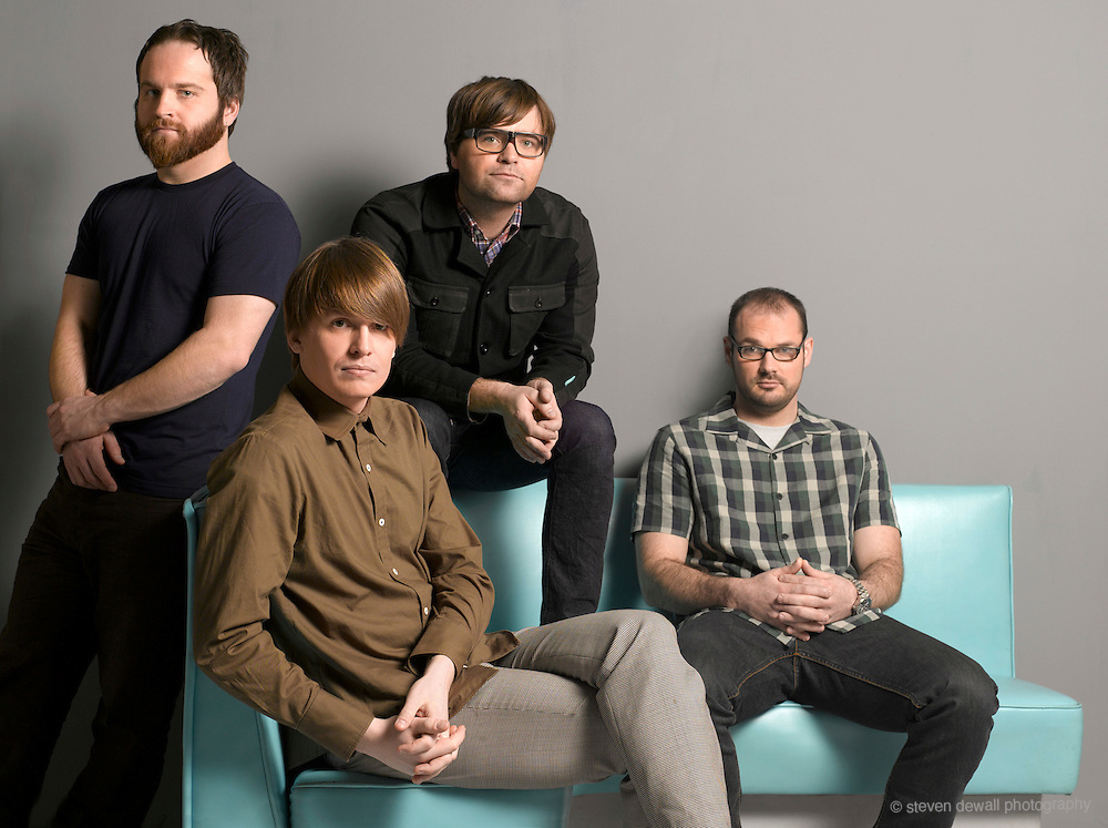 Death Cab for Cutie, photographed in the studio in Seattle, WA. for the release of Narrow Stairs