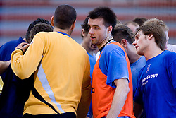 Klemen Cehte and Luka Zvizej at practice of Slovenian Handball Men National Team, on June 4, 2009, in Arena Kodeljevo, Ljubljana, Slovenia. (Photo by Vid Ponikvar / Sportida)