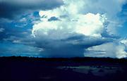 Cumulonimbus Storm Clouds, blue sky, rain,