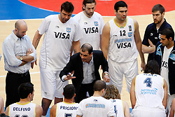 15.08.2010, Logroo, ESP, Friendly Basketball LS, Spain vs Argentia, im Bild Argentina's Sergio Hernandez during Friendly match. EXPA Pictures © 2010, PhotoCredit: EXPA/ Alterphotos/ Acero +++++ ATTENTION - OUT OF SPAIN +++++