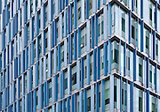 The Blue Fin Building on Southwark street named after the 2000 aluminium blue fins which are used to shade the interior.<br /> <br /> Architect: Allies and Morrison