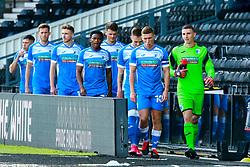 Barrow players make their way to the pitch - Mandatory by-line: Ryan Crockett/JMP - 05/09/2020 - FOOTBALL - Pride Park Stadium - Derby, England - Derby County v Barrow - Carabao Cup