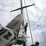 Sailing with Explore NZ from Paihia, around the Bay of Islands, New Zealand,, 18th November 2010 Photo Tim Clayton.