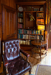 Library detail  at Torridon Hotel on the North Coast 500 scenic driving route in northern Scotland, UK