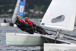 Peelport Clydeport Largs Regatta Week 2013 <br /> <br /> Catermaran 154, Ninth Life, Hurricane 5.9, John Connelly, Hilary Connelly<br /> <br /> Largs Sailing Club, Largs Yacht Haven, Scottish Sailing Institute