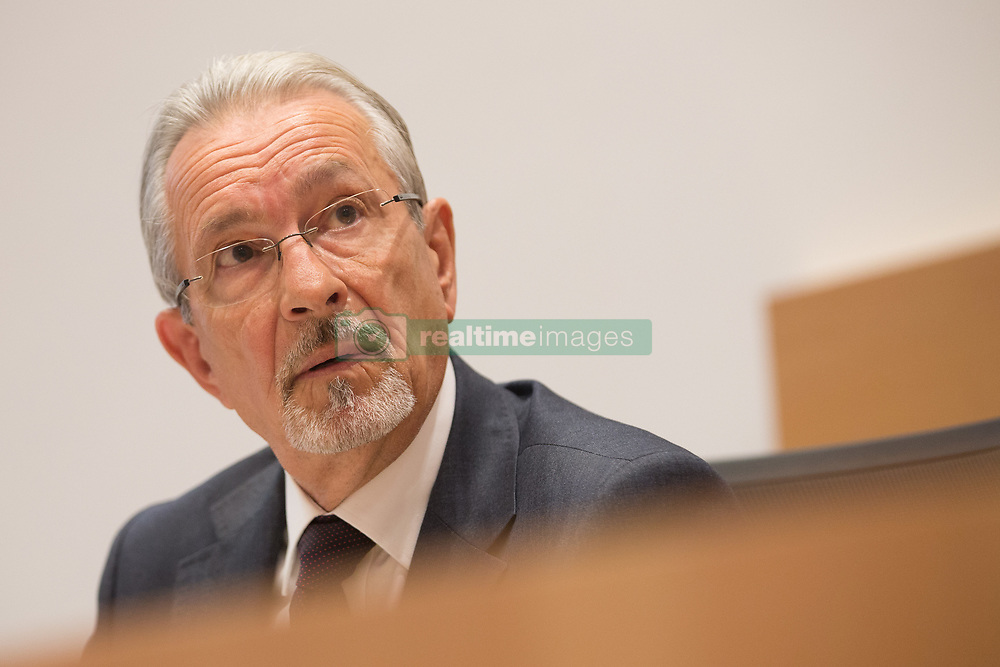 July 7, 2017 - Brussels, BELGIUM - Examining magistrate (onderzoeksrechter/juge d'instruction) Jean Claude Van Espen pictured during a session of the parliamentary inquiry commission on the plea agreement, at the federal parliament, in Brussels, Friday 07 July 2017. This commission enquire the circumstances which led to the approbation and the application of the law of 14 April 2011 on the plea agreement. BELGA PHOTO BRUNO FAHY (Credit Image: © Bruno Fahy/Belga via ZUMA Press)