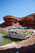 Bighorn Canyon National Recreation Area, boat in cove