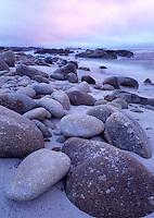 Sunset along Pebble Beach, California