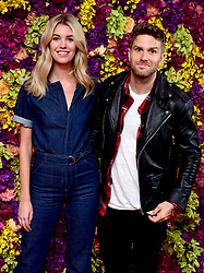 Joel Dommett and fiancee Hannah Cooper attending the Crazy Rich Asians Premiere held at Ham Yard Hotel, London.