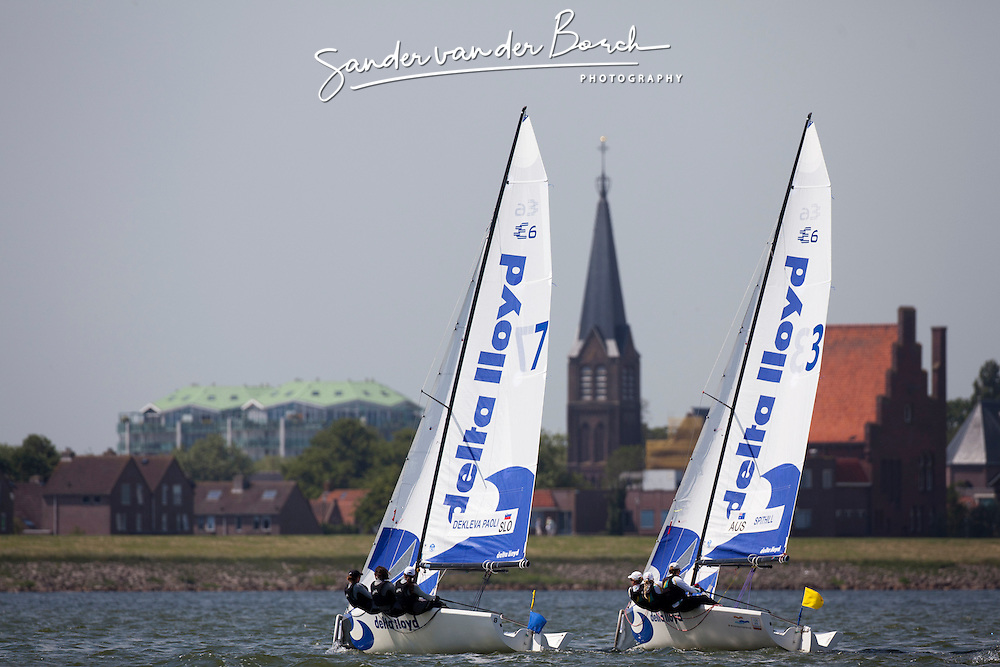Match racing © Sander van der Borch - Medemblik - the Netherlands, May 25th 2011. Delta Lloyd Regatta in Medemblik (26/30 May 2011). Day 2.