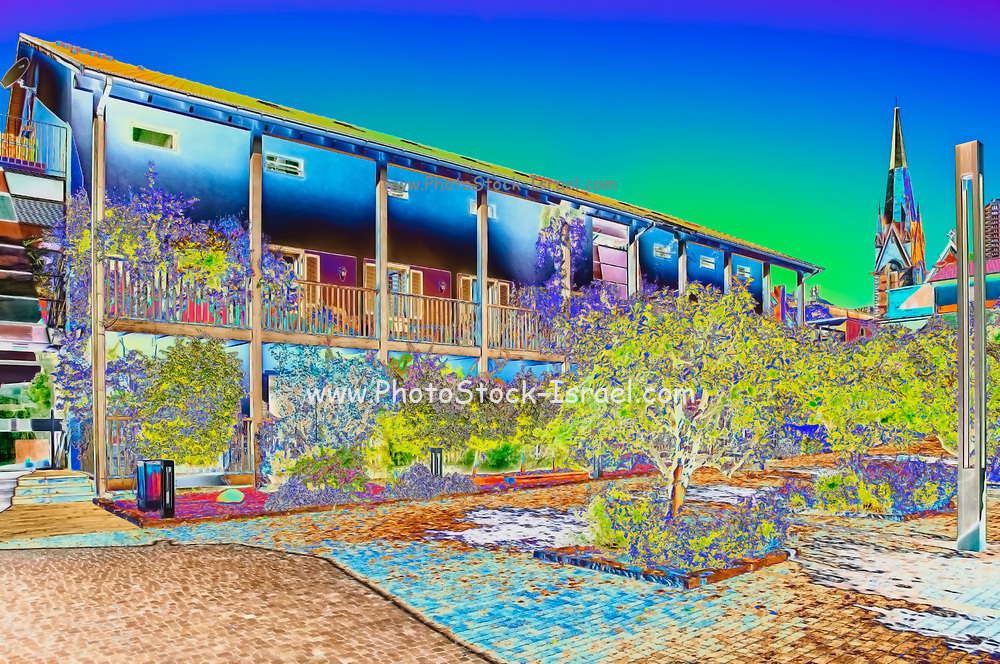 Digitally enhanced image of The Village renovation project in the American Colony, Tel Aviv, Israel