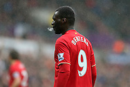 Christian Benteke of Liverpool looks on.  Barclays Premier league match, Swansea city v Liverpool  at the Liberty Stadium in Swansea, South Wales on Sunday 1st May 2016.<br /> pic by  Andrew Orchard, Andrew Orchard sports photography.