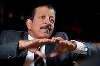 2010, BERLIN/GERMANY:<br /> Yousef Hussein Kamal, Wirtschafts- und Finanzminister Katar, waehrend einem Interview, Hotel Ritz-Charlton<br /> IMAGE: 20101216-01-016<br /> KEYWORDS: Yousef Hussain Kamal, Qatar