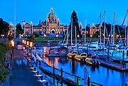 British Columbia Parliament Building, Inner Harbor, Victoria, BC