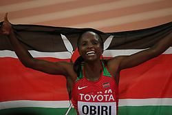 Hellen Onsando OBIRI of Kenya wins the women´s 5000 m during day ten of the 2017 IAAF World Championships at the London Stadium, UK, Sunday August 13, 2017. Photo by Giuliano Bevilacqua/ABACAPRESS.COM