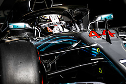 April 7, 2018 - Sakhir, Bahrain - HAMILTON Lewis (gbr), Mercedes AMG F1 Petronas GP W09 Hybrid EQ Power+, action during 2018 Formula 1 FIA world championship, Bahrain Grand Prix, at Sakhir from April 5 to 8  I  Motorsports: FIA Formula One World Championship 2018, Grand Prix of Bahrain,#44 Lewis Hamilton (GBR, Mercedes AMG Petronas F1 Team) (Credit Image: © Hoch Zwei via ZUMA Wire)