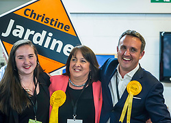 Pictured: Mhairi Jardine congratulates her mother Christine Jardine and Alex Cole Hamilton<br /> The Edinburgh Count and  announcements ended  around 4:30 this morning with weary heads around all parties.<br /> <br /> Ger Harley   EEm 9 June 2017