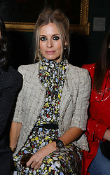 Laura Bailey on the front row during the Erdem Autumn/Winter 2019 London Fashion Week show at The National Portrait Gallery, London.