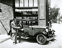 1926 Vern Farquhar at his Hollywood Tire at 6472 Sunset Blvd. before the Wilcox Ave. location was built.