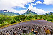 Love Lock, Belvedere Lookout, Cook's Bay, Opunohu Bay, Moorea, French Polynesia