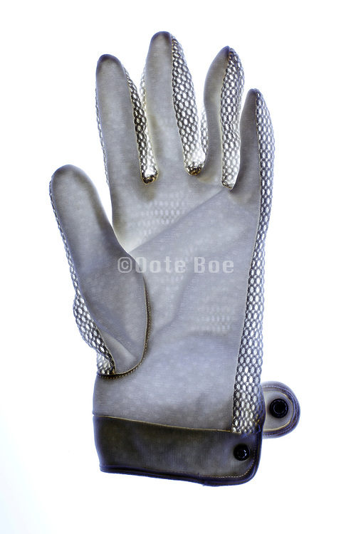 white cotton glove