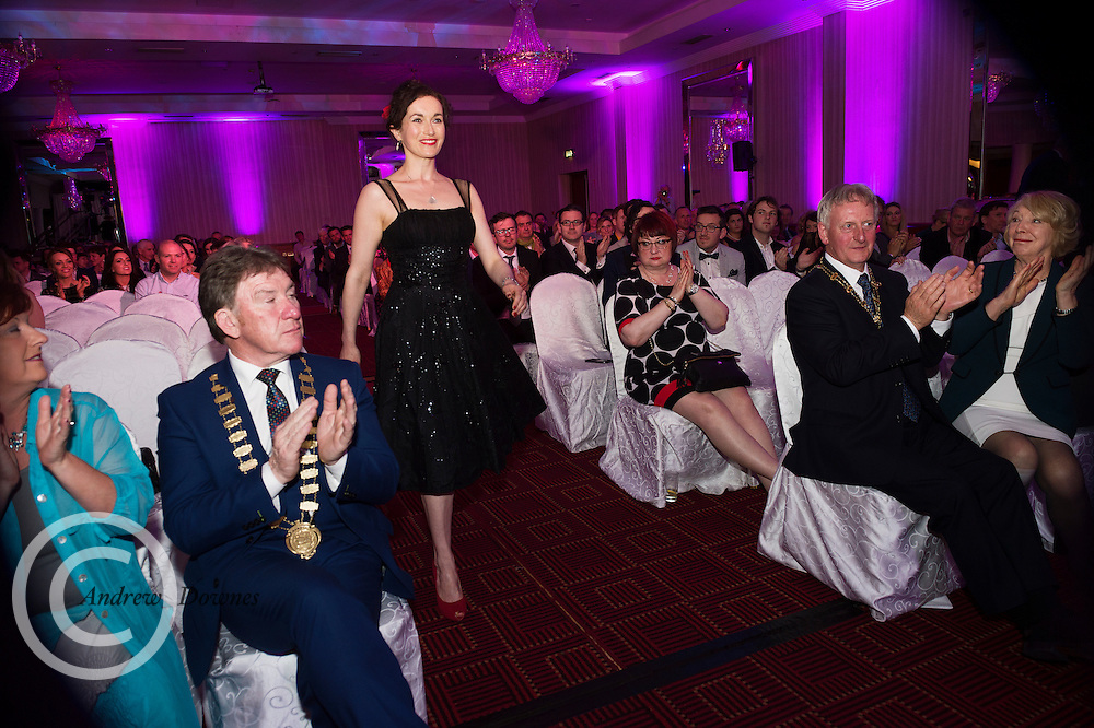 """report free. TG4, the Irish language television station, was presented with the Lifetime Achievement Award by President Michael D. Higgins at the Oireachtas Media Awards. Other winners on the night included Bláthnaid Ní Chofaigh for her weekly RTÉ Raidió na Gaeltachta show 'Bláthnaid Libh', Stíofán Ó Fearail, from Gaeltacht band Seo Linn and Alan Titley, Irish Times columnist.<br /> Best Radio Broadcaster went to Raidio na Gaeltachta's Rónán Mac Aodha Bhuí whilst Síle Nic Chonaonaigh took home the award for Best Television Broadcaster. Galway's Tara Breathnach won Best Actor for her role as the mother of an autistic boy in Maidhm.<br /> The annual awards, which took place in the Salthill Hotel, Galway, celebrate achievement and excellence in the Irish language media sector and honour actors, journalists, presenters, programme makers and others who have excelled in their contributions in the last year. A new category for Best Short Film was introduced this year and was won by Meangadh Fíbín for their film Snámh in aghaidh Easa.<br /> """"It's a huge honour to have the President present the awards, particularly as TG4 celebrates its 20th anniversary this year"""" said Liam Ó Maolaodha, Director of an tOireachtas. """"President Higgins played an integral part in the founding of the station and has always been an advocate for both Irish language media and the arts. These awards are one of the highlights of the Irish language media sector's calendar and reflect and celebrate the thriving industry that it's become,"""" he added.<br /> Independent filmmakers Magamedia took home the award for Best Television Series for EIPIC as well as Best Television Programme for Deoch an Dorais. The documentary tells the true story of Irishman Mike Malloy whosurvived over 20 attempts on his life in depression-era New York.<br /> Photos caption:<br /> Pictured at the Oireachtas Media Awards in the Salthill Hotel Galway was Galway's Tara Breathnach who won Best Actor for her role as the mother o"""