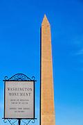 Washington Monument in Washington, DC, USA.